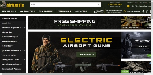 New and Improved AirRattle Website   AirsoftWarrior.net