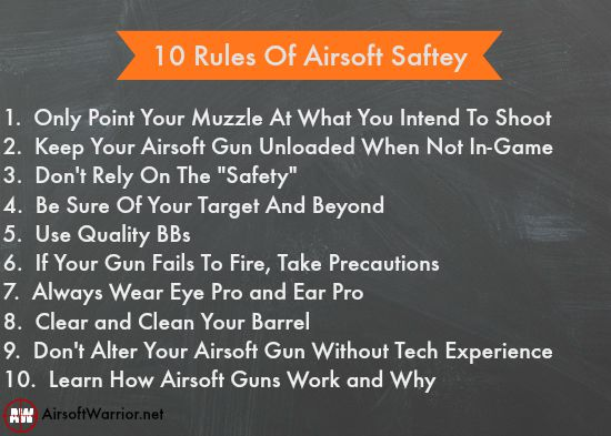 10 Rules Of Airsoft Safety | AirsoftWarrior.net